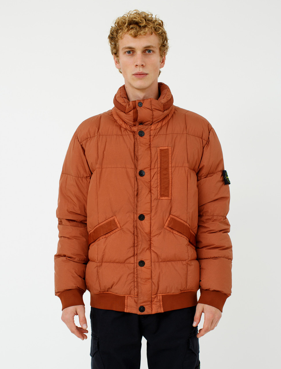 Down Jacket in Rust