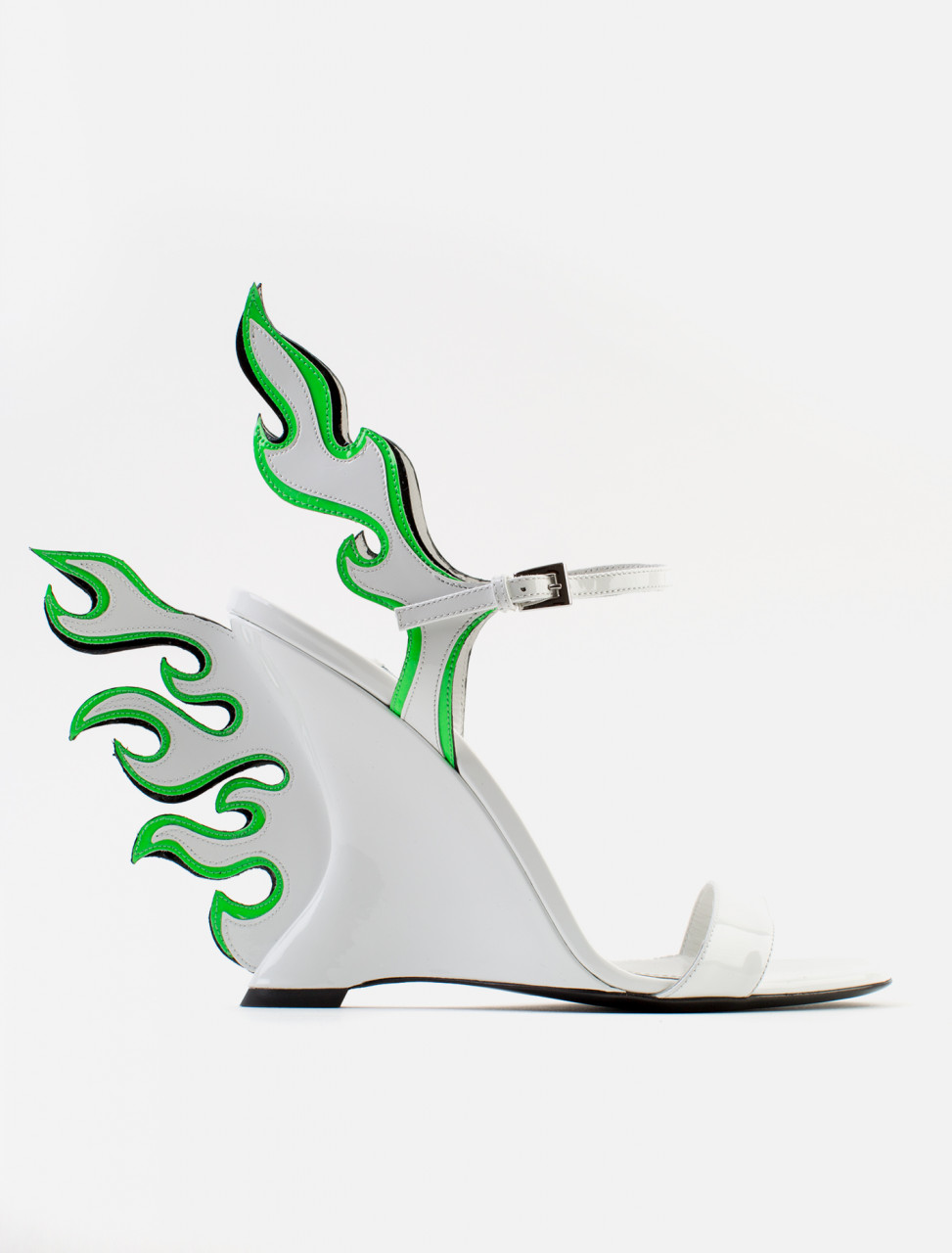 Patent Leather Flame Heel