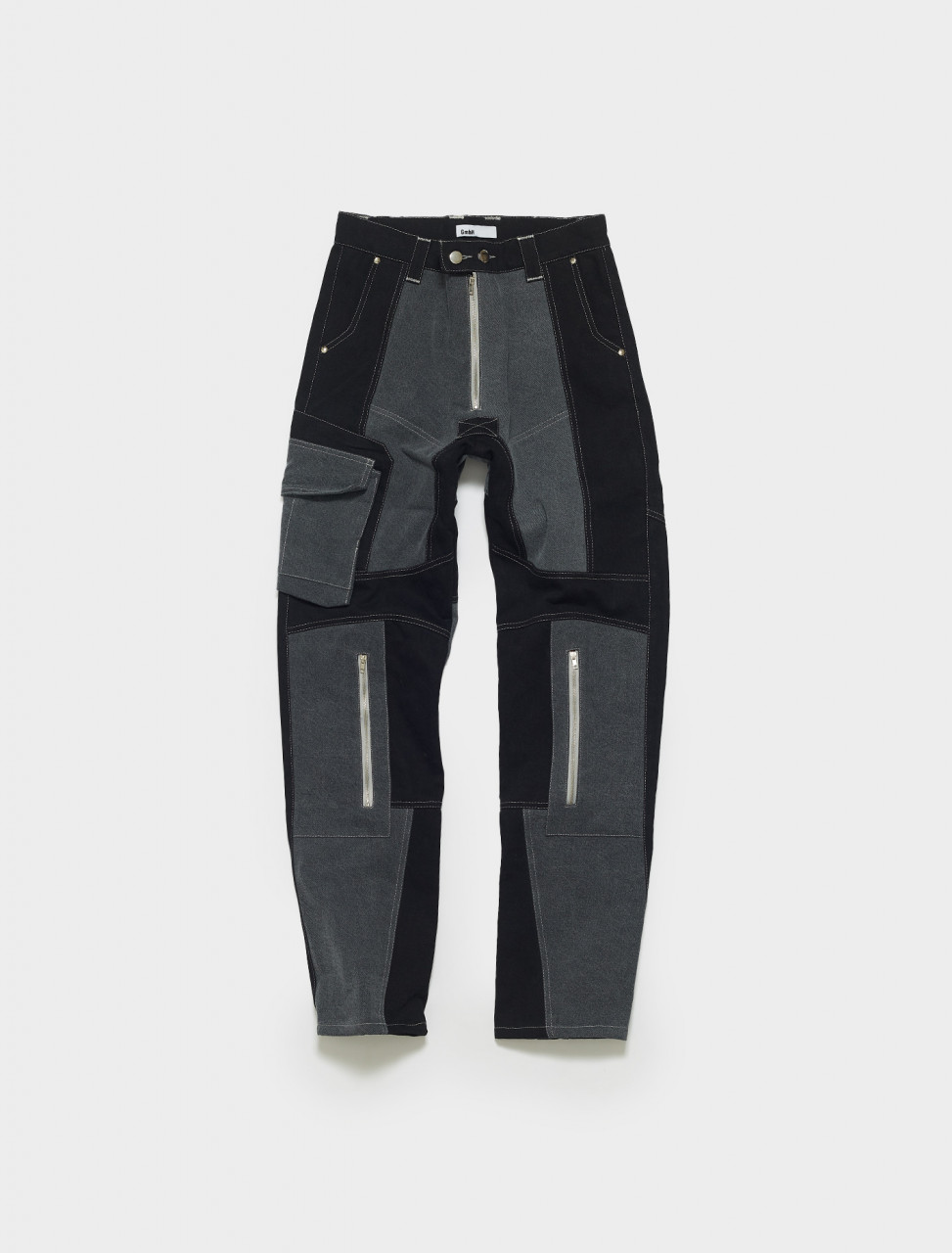 ANTON_M-Black & Grey GMBH ANTON BIKER JEANS BLACK GREY