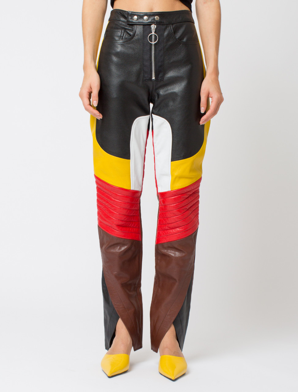 Crossover Hem Biker Trousers