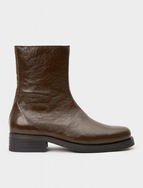 150-A3207CO OUR LEGACY CAMION BOOT OLIVE LEATHER