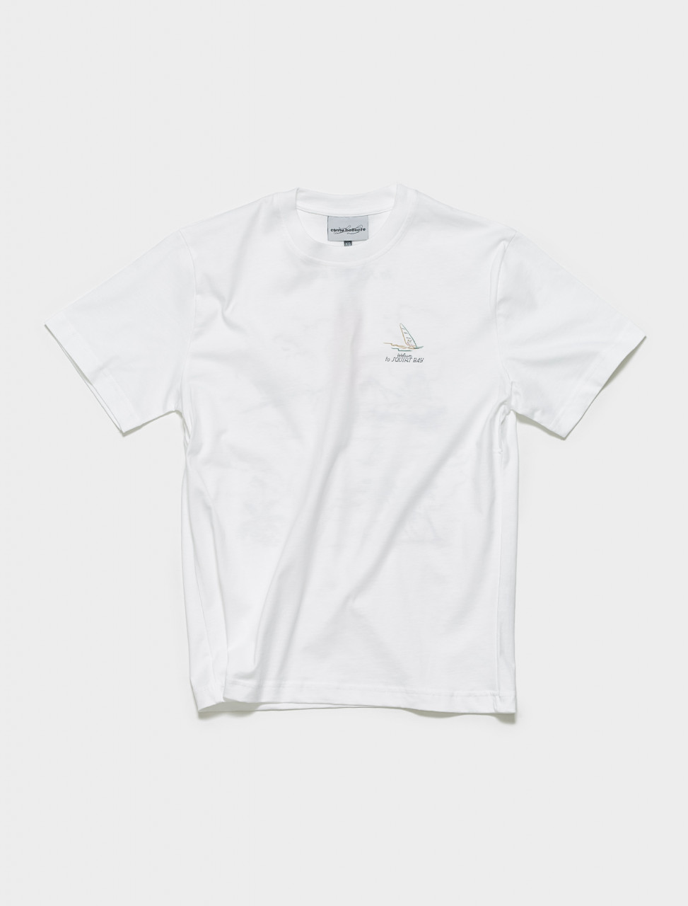 SS21TS10 CARNE BOLLENTE SQUIRT BAY T SHIRT IN WHITE
