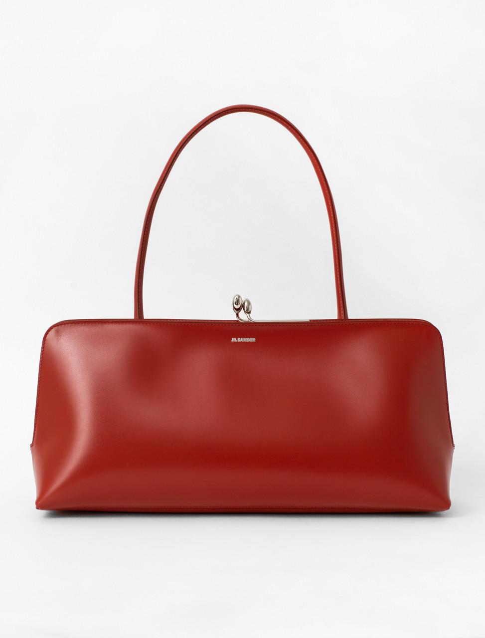 Calfskin Frame Bag in Dark Red