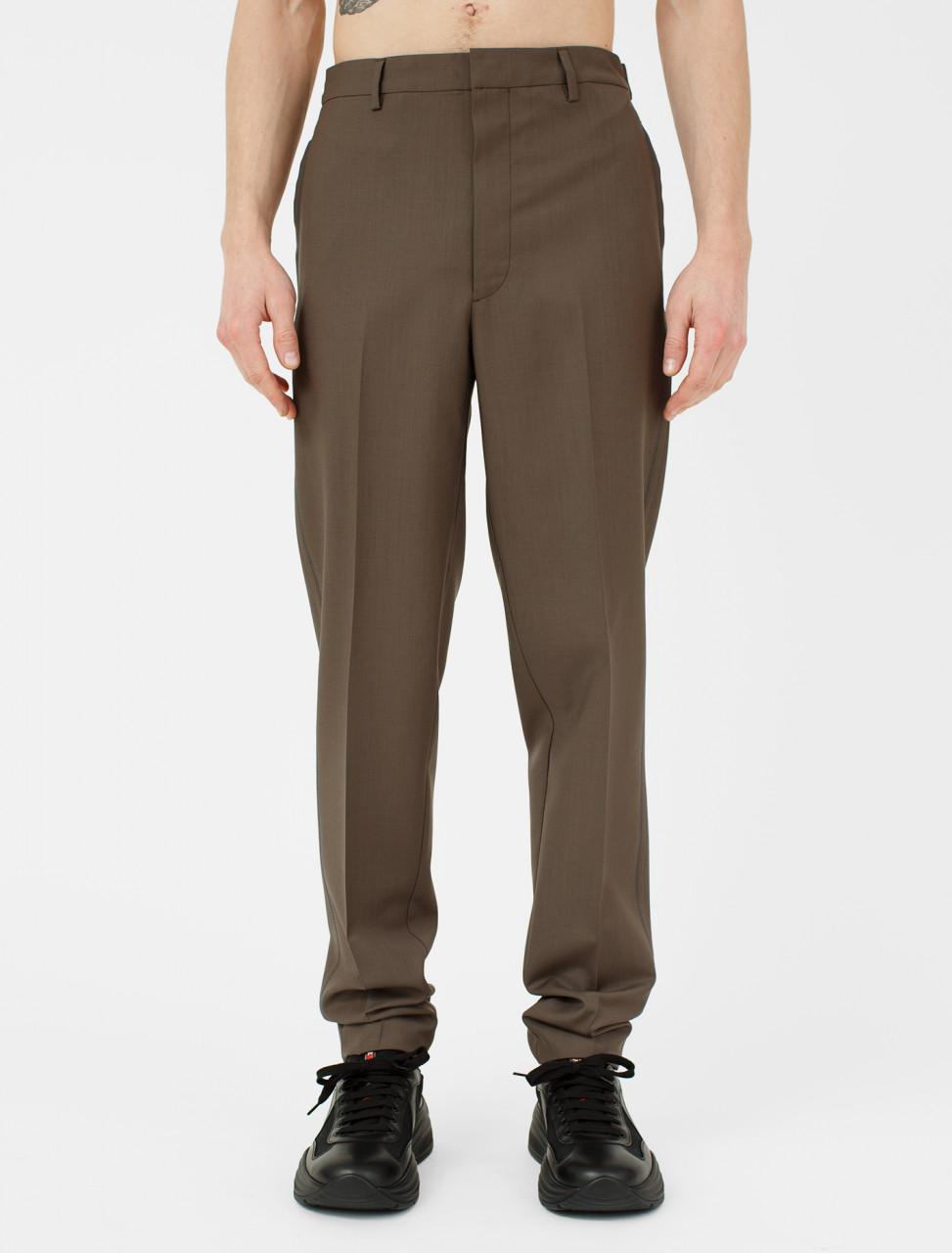 Wool Mohair Backstitch Trouser