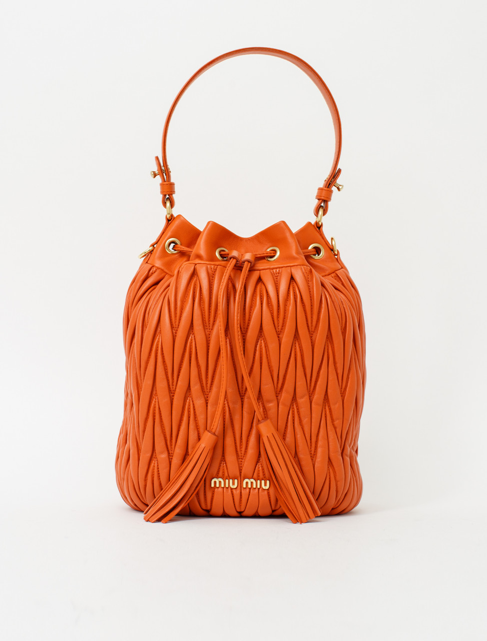 Matelassé Nappa Leather Bucket Bag