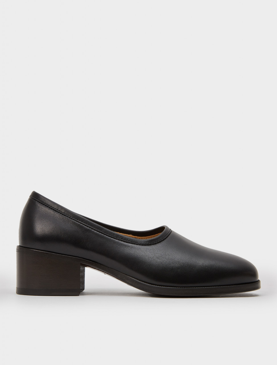 218-W-204-FO256-LL153-999 LEMAIRE HEELED LOAFERS BLACK