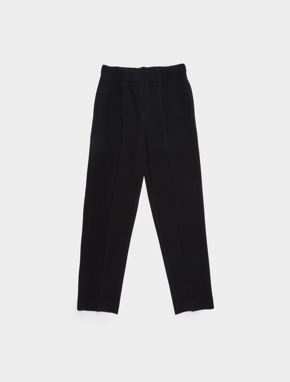 HP08FF121-15 HOMME PLISSE ISSEY MIYAKE PLEATED TUXEDO TROUSER BLACK