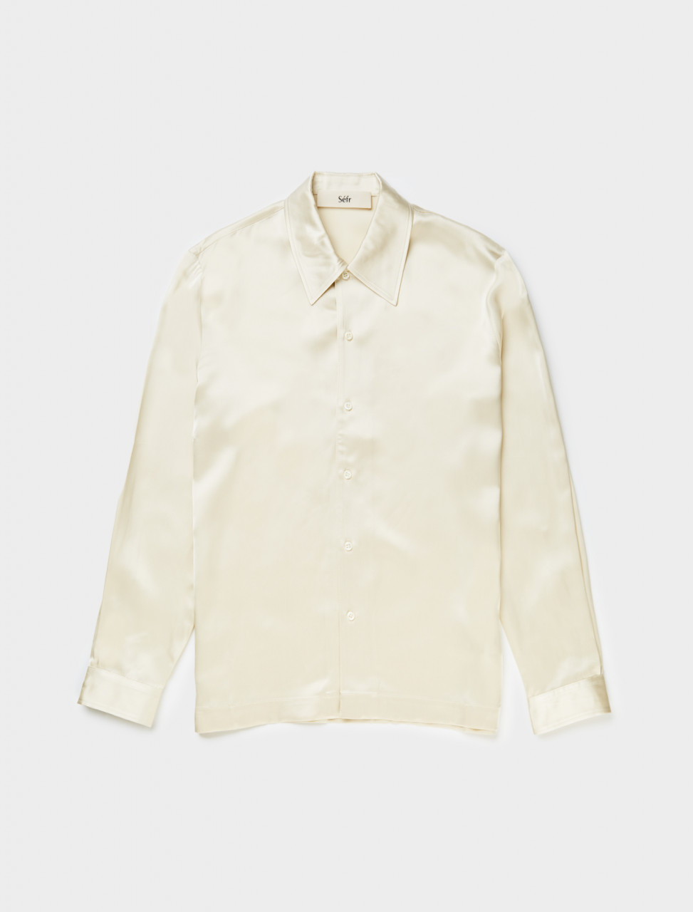 Front view of Séfr Ripley Shirt in Golden White