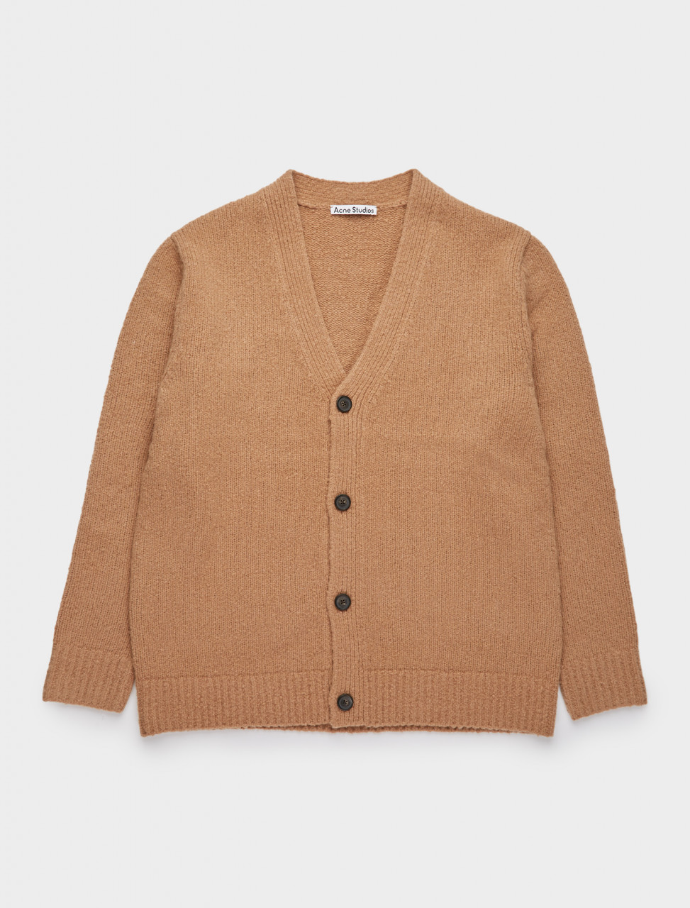 110-B60144-ADV ACNE STUDIOS Melange V-Neck Cardigan in Light Brown