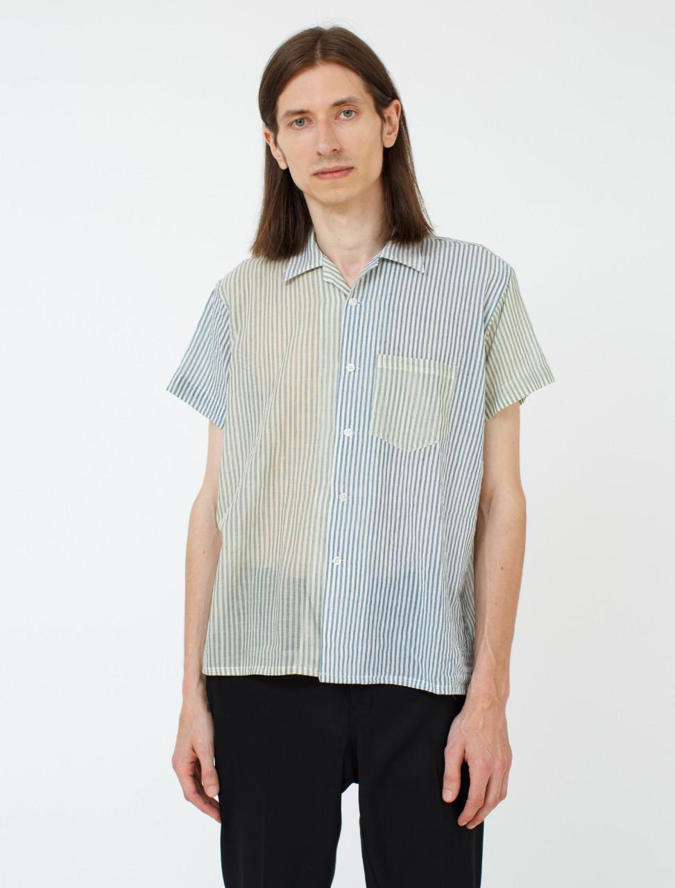 Duo-Tone Stripe Silk Shirt