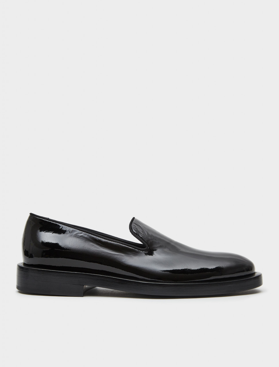 130-JI34540B-12270-001 JIL SANDER LEATHER LOAFER BLACK SIDE