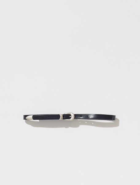 A2208BBLA OUR LEGACY LEATHER BELT IN BLACK