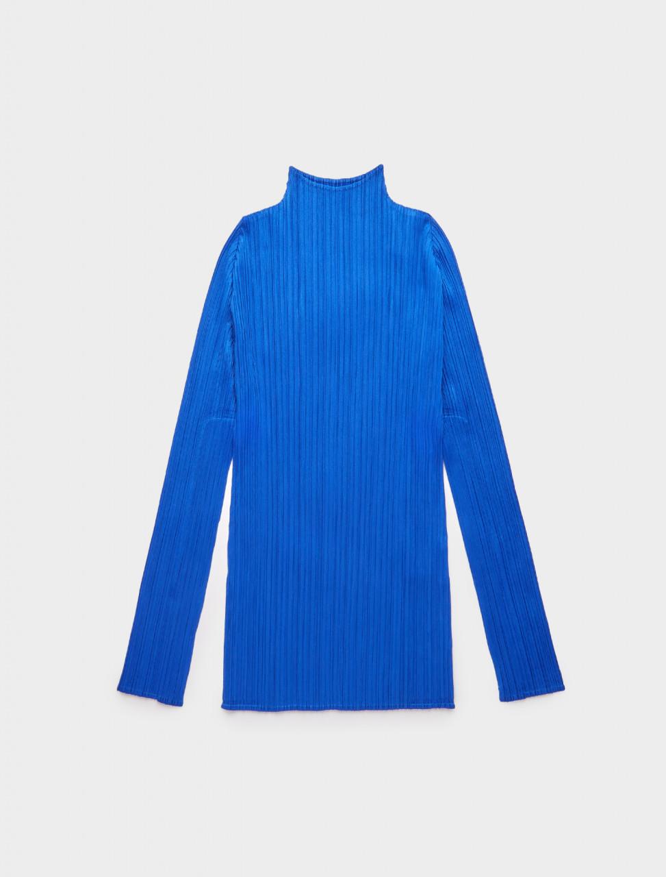 286-PP08JK904-72 ISSEY MIYAKE PP09 JK904 HOMME PLISSE HIGH NECK TOP BLUE