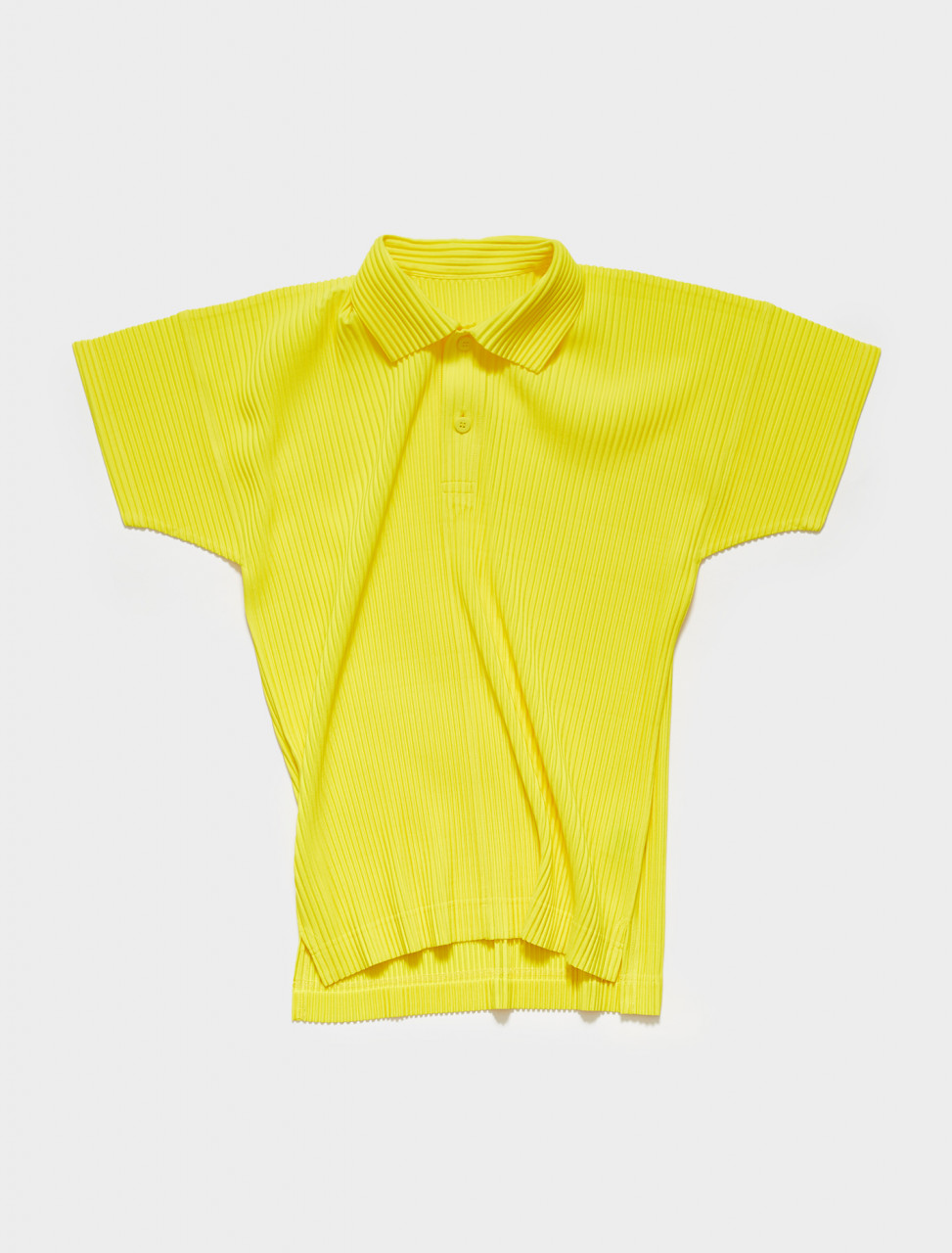 HP16JM127-51 HOMME PLISSE ISSEY MIYAKE Pleated Polo in Lemon Yellow