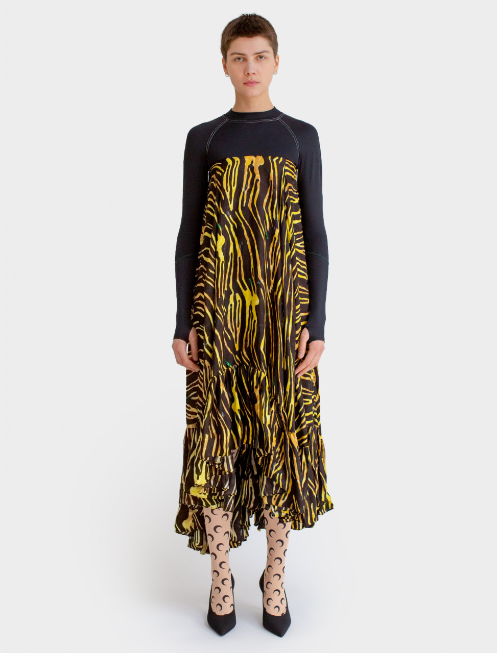 Hybrid Dress in Salamander Print