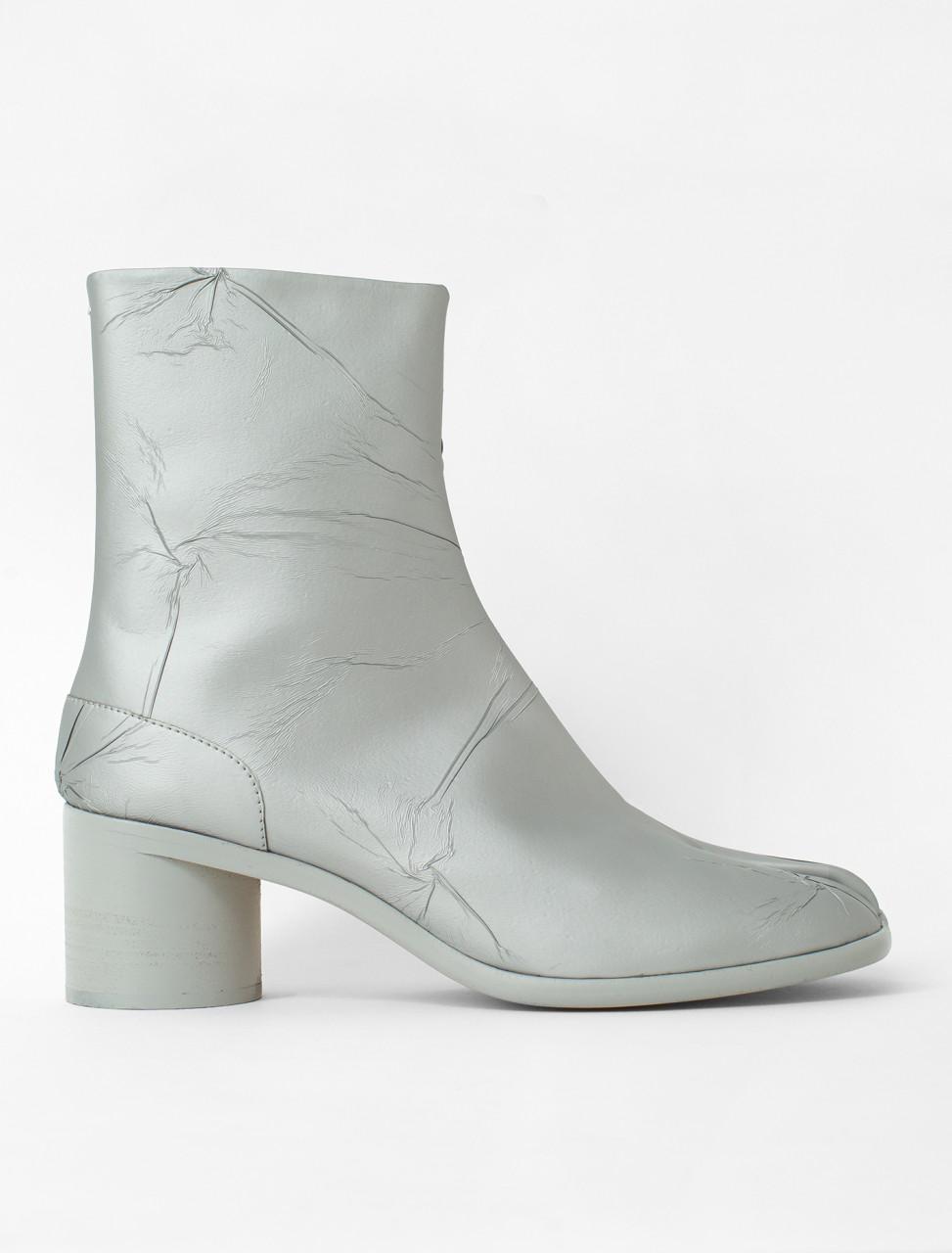 Crinkle Texture Tabi Boot