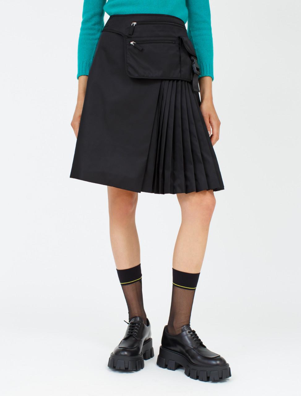 Multi-Pocket Nylon Gabardine Skirt