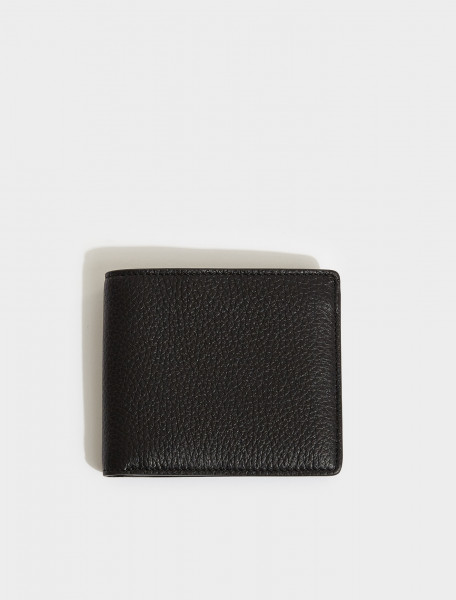 S35UI0435-H1669 MAISON MARGIELA BI FOLD WALLET IN BLACK