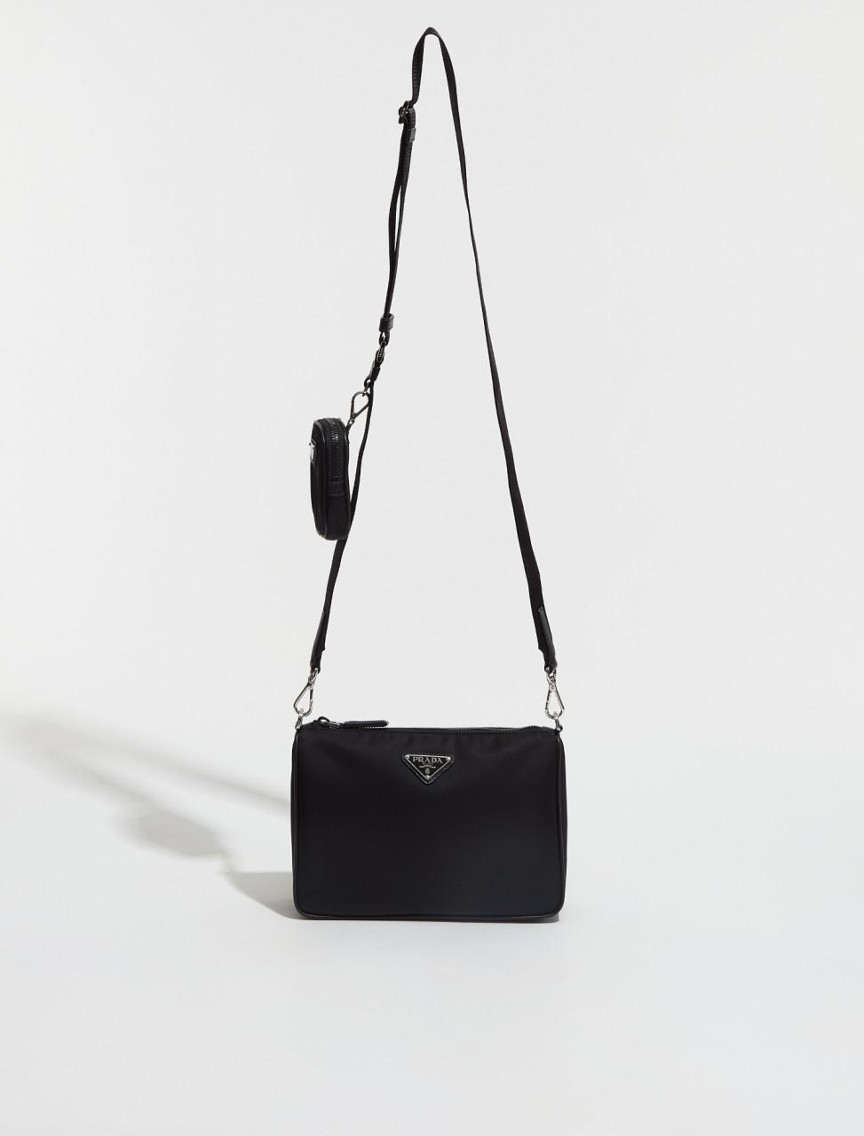 2VH113_2DMH_F0002 PRADA NYLON AND SAFFIANO LEATHER SHOULDER BAG IN BLACK