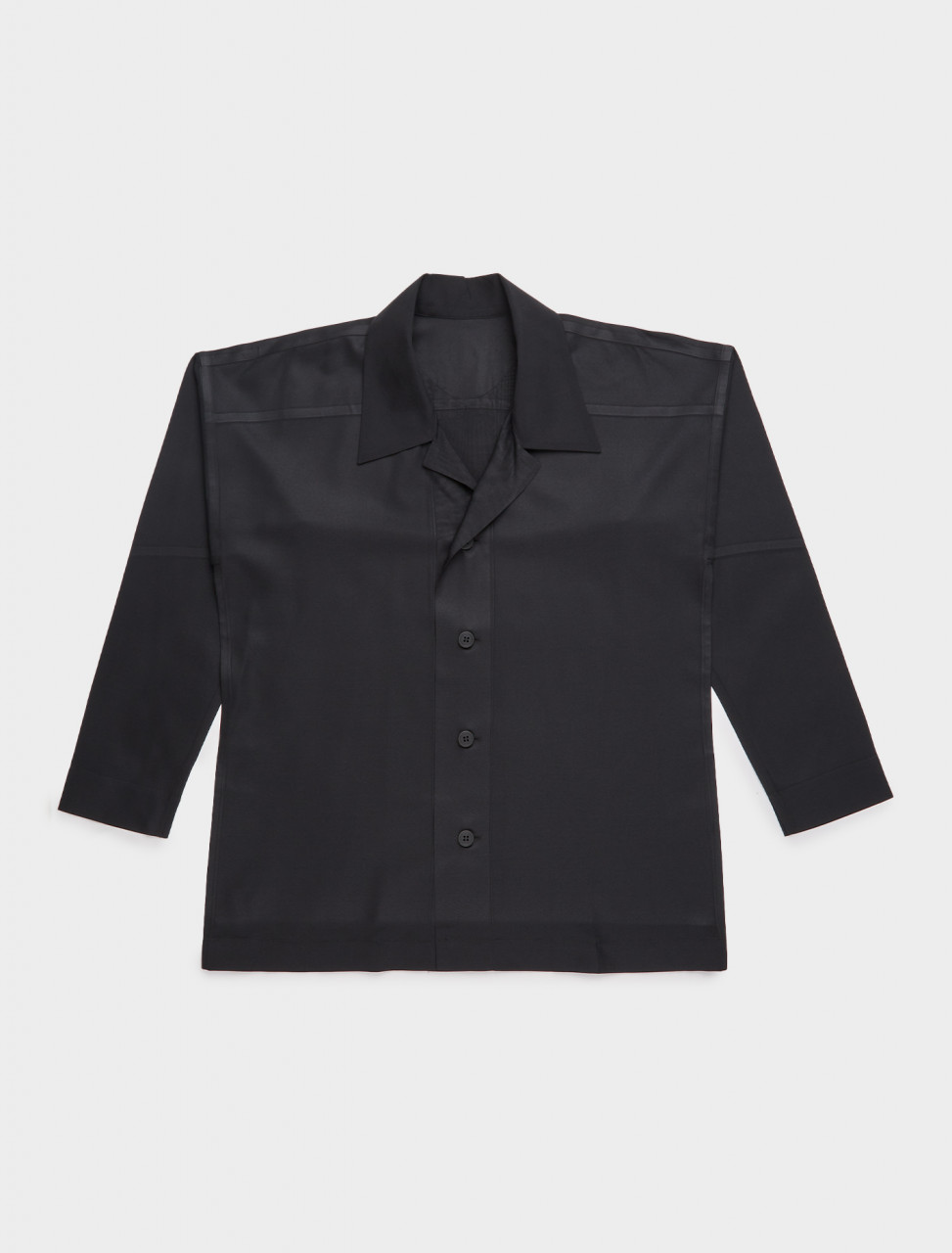HP09FJ020-13 HOMME PLISSE ISSEY MIYAKE PLEATED PRESS SHIRT CHARCOAL