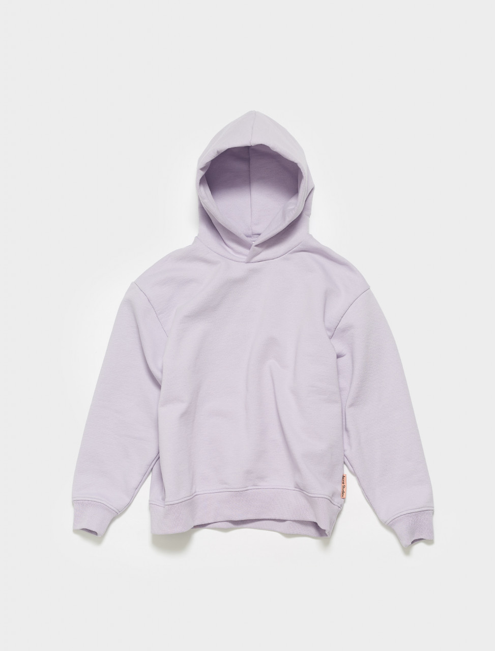 AI0080-ADH ACNE STUDIOS FEIRDRE PINK LABEL HOODIE IN LAVENDER PURPLE