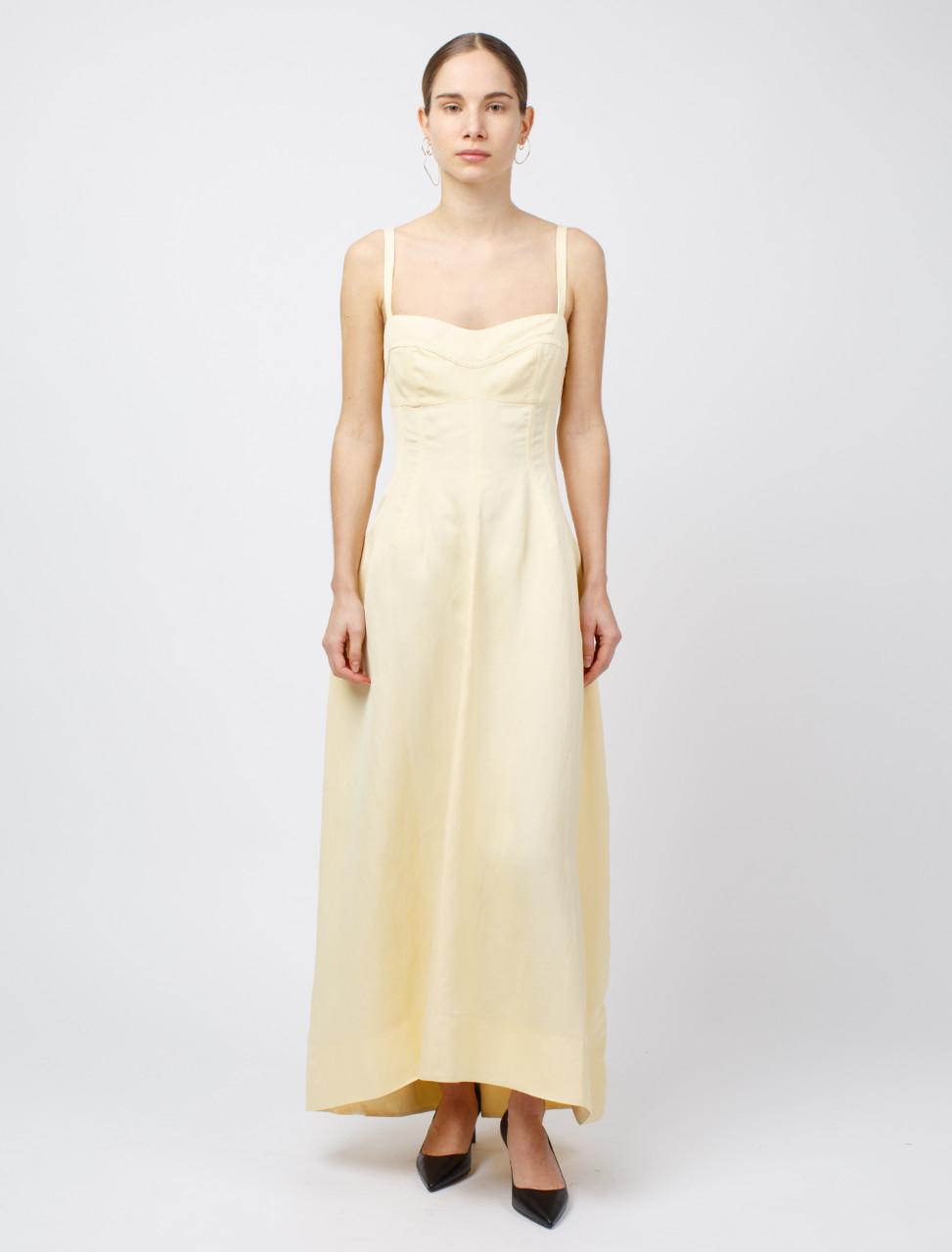 Sleeveless Bodice Dress in Natural