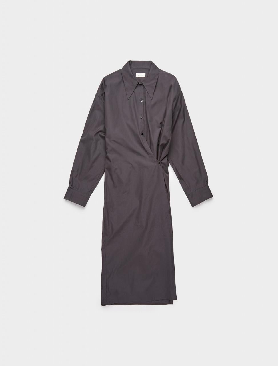 218-W-203-DR254-LF353-968 LEMAIRE TWISTED DRESS DARK GREY