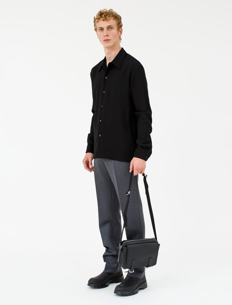 Woollen Trouser in Grey Melange