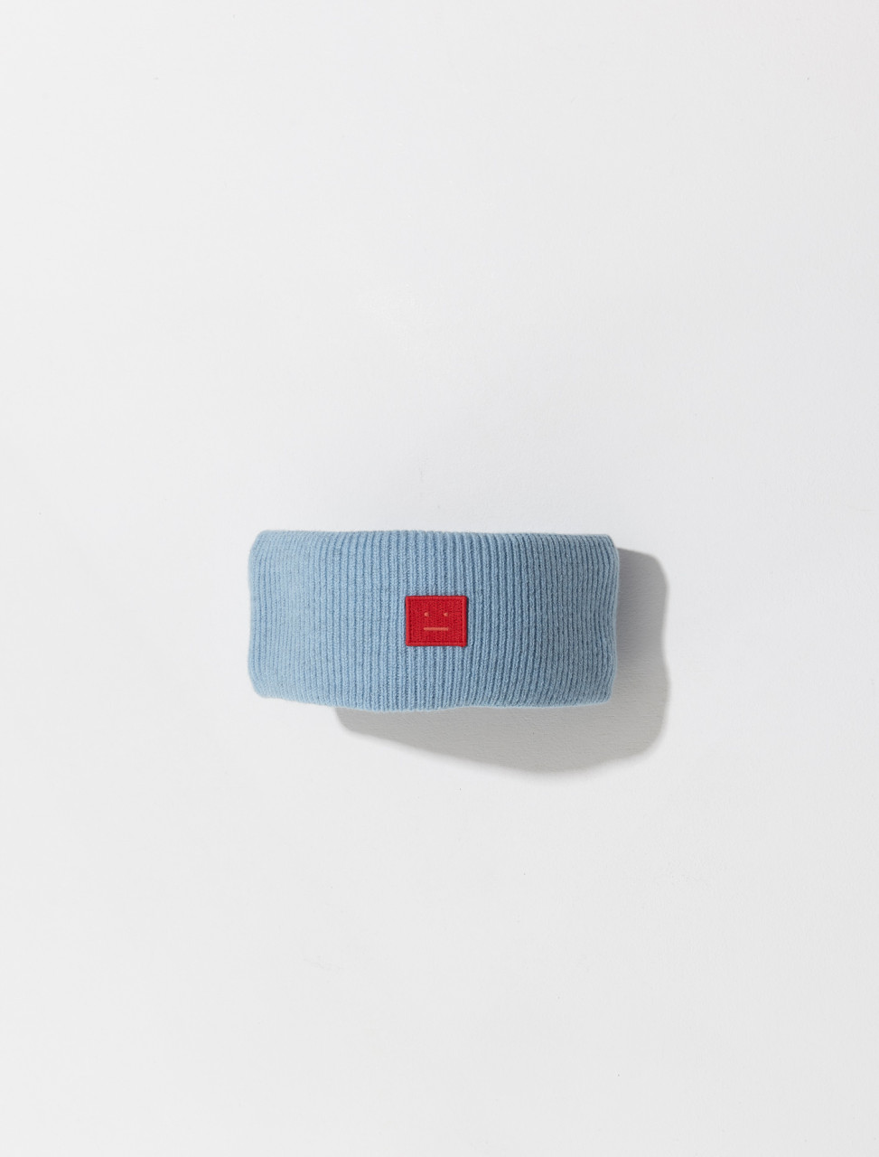 C40159 AQO FA UX HAT000098 ACNE STUDIOS FANCY FACE SWEATBAND IN POWDER BLUE