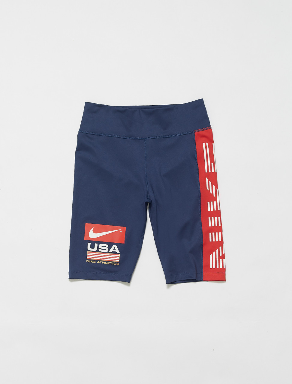 149-CK5244-410 NIKE USA BIKE SHORT MIDNIGHT NAVY UNIVERSITY RED BLACK
