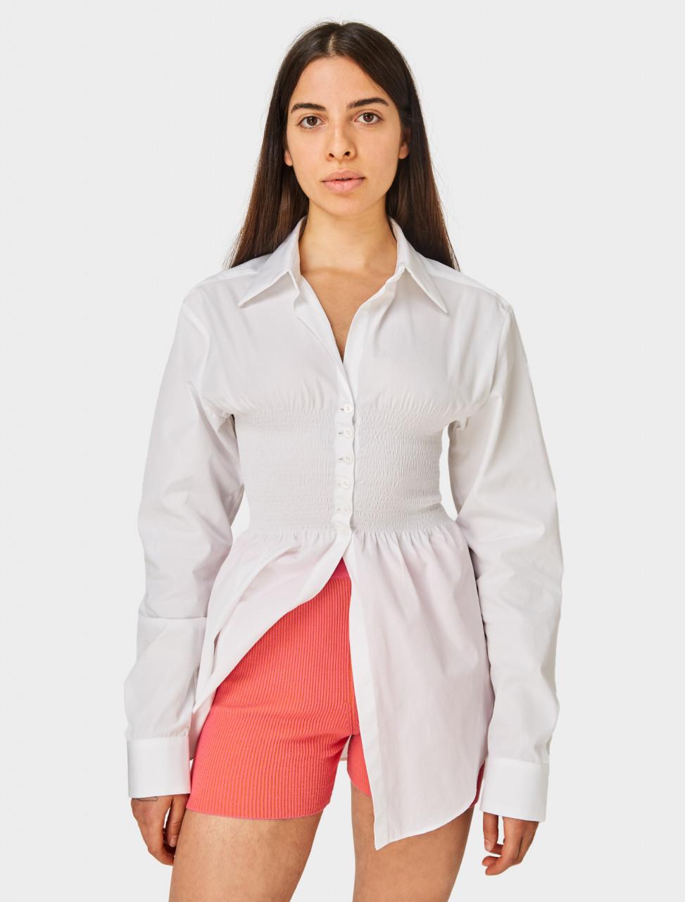Super YAYA Bustier Shirt in White