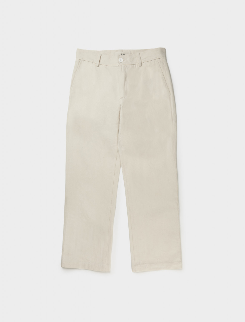 Front view of Séfr Mike Trouser in Off White