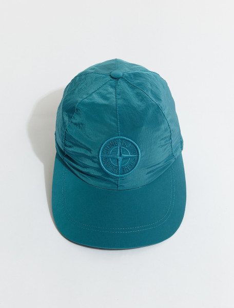 MO741599576-V0042 STONE ISLAND CAP IN TURCHESE