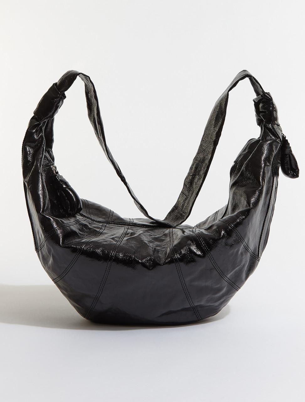 X-CAO-BG252-LF345-999 LEMAIRE LARGE CROISSANT BAG IN VINYL BLACK