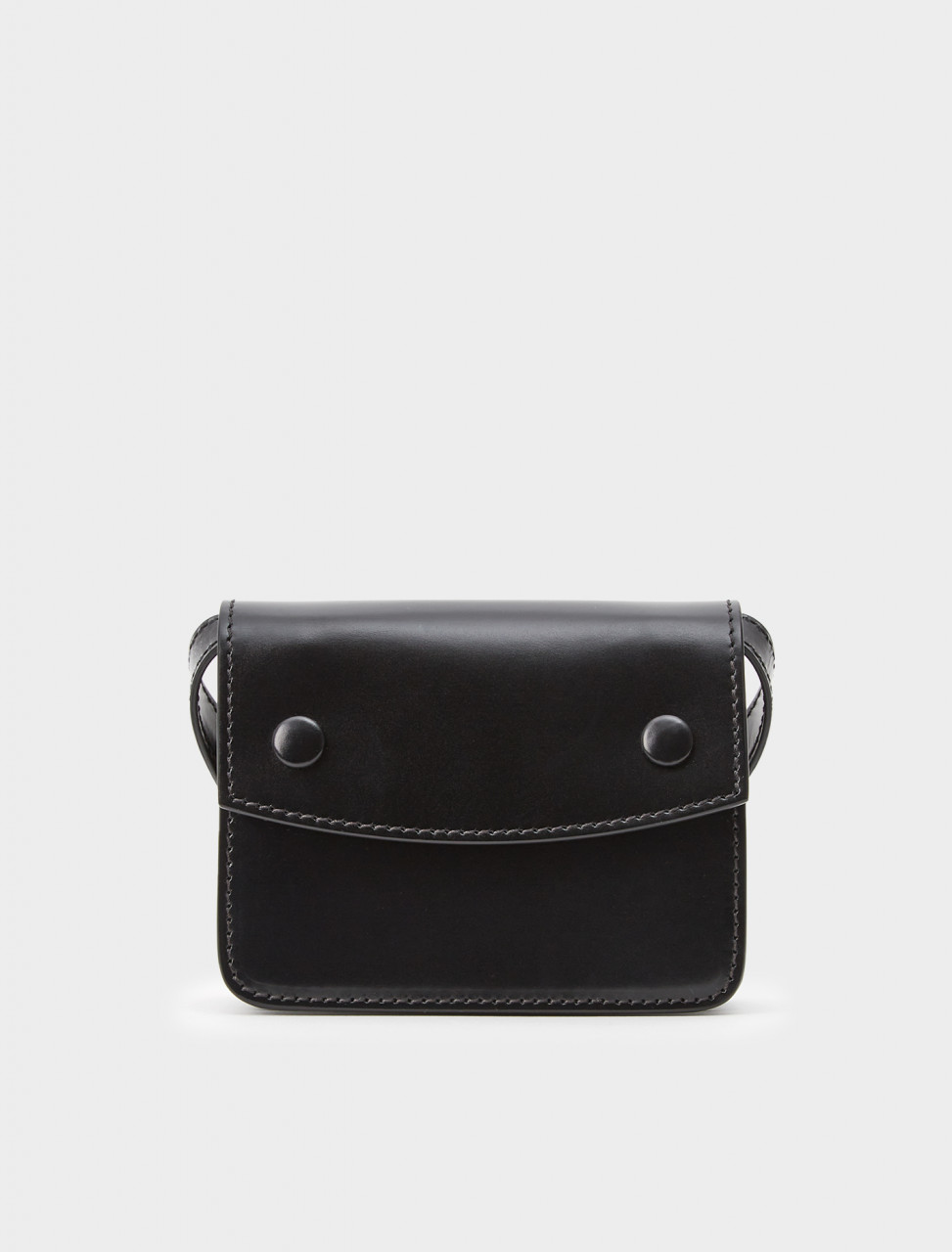 256-S35WB0077-PR516-T8013 MAISON MARGIELA LEATHER BELT BAG BLACK