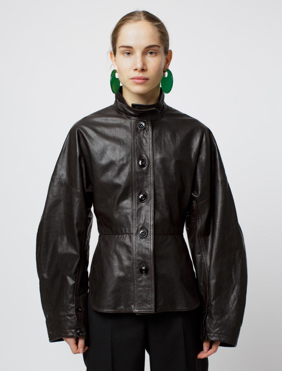 Large Sleeve Leather Jacket