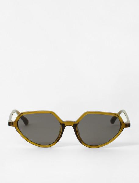 Cat-Eye Sunglasses in Olive Green