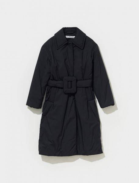 A90381 900 FN WN OUTW000517 ACNE STUDIOS OLFA PADDED TRENCH COAT IN BLACK