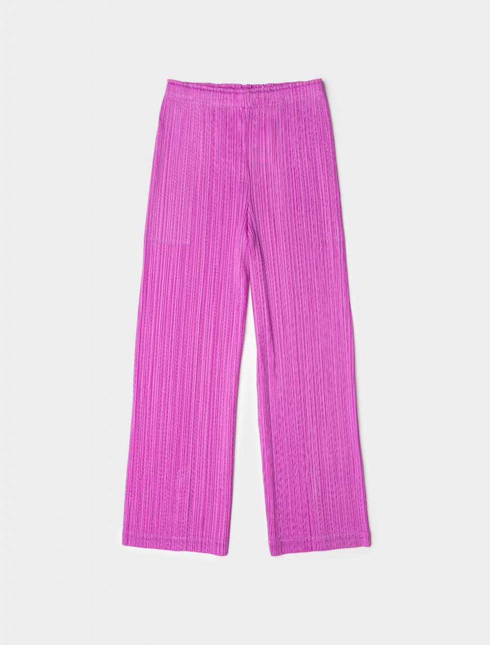 Pleated Trousers in Fuchsia