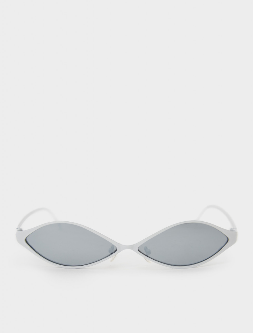 Front view of GmbH Ayni Sunglasses in Metal White