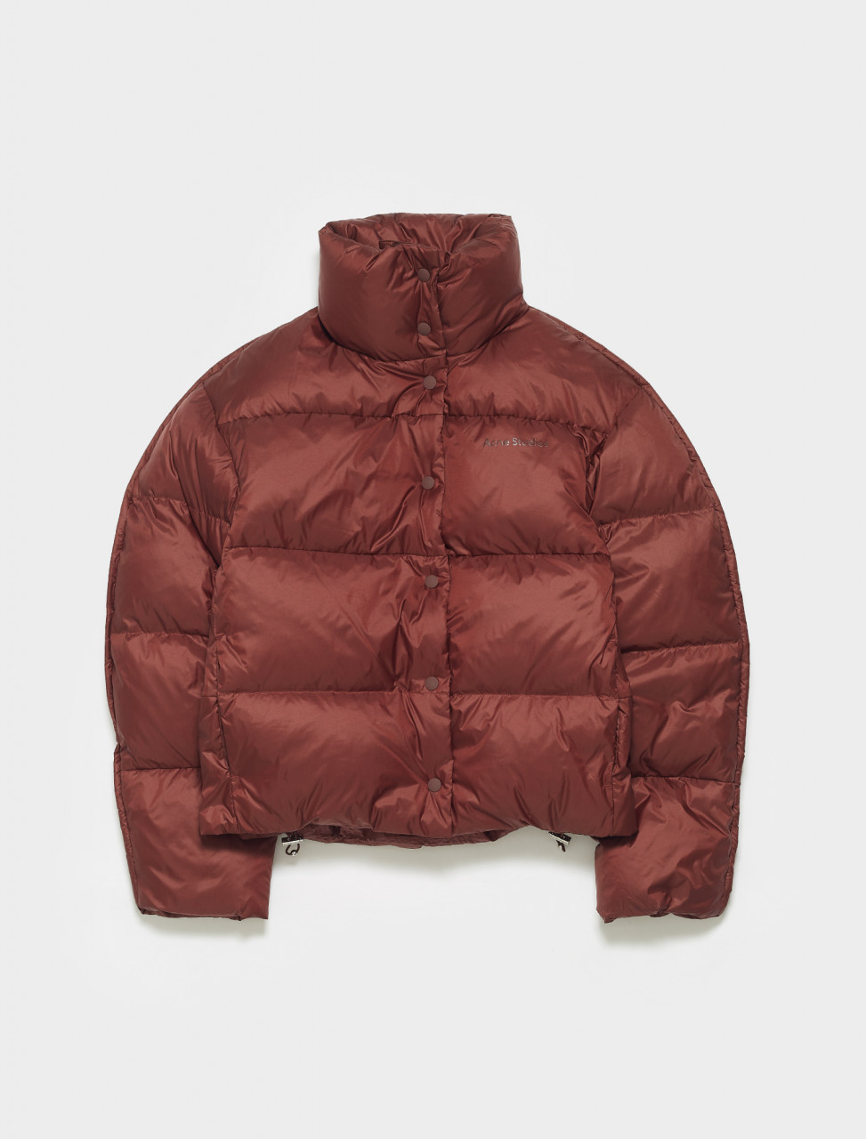 A90348-ACE ACNE STUDIOS ORLIN PUFFER JACKET IN MAROON RED