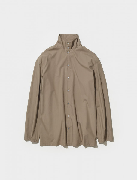 M 213 SH171 LF588 240 LEMAIRE HIGH COLLAR SHIRT IN GREIGE