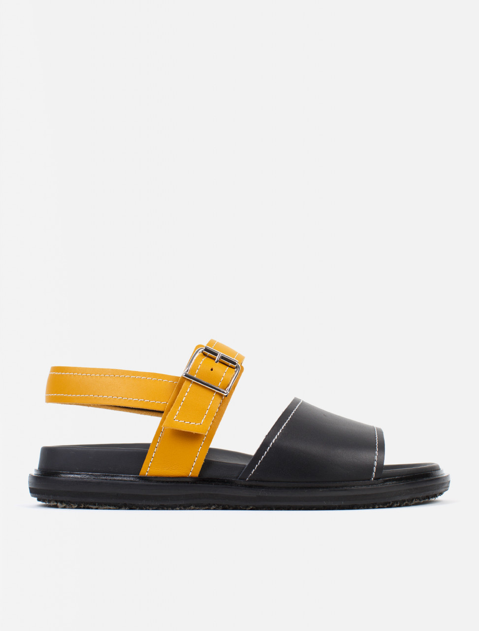 Sandals in Black and Honey