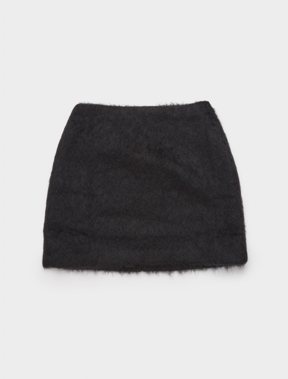 150-W4204MBM OUR LEGACY MINI SKIRT BLACK MOHAIR