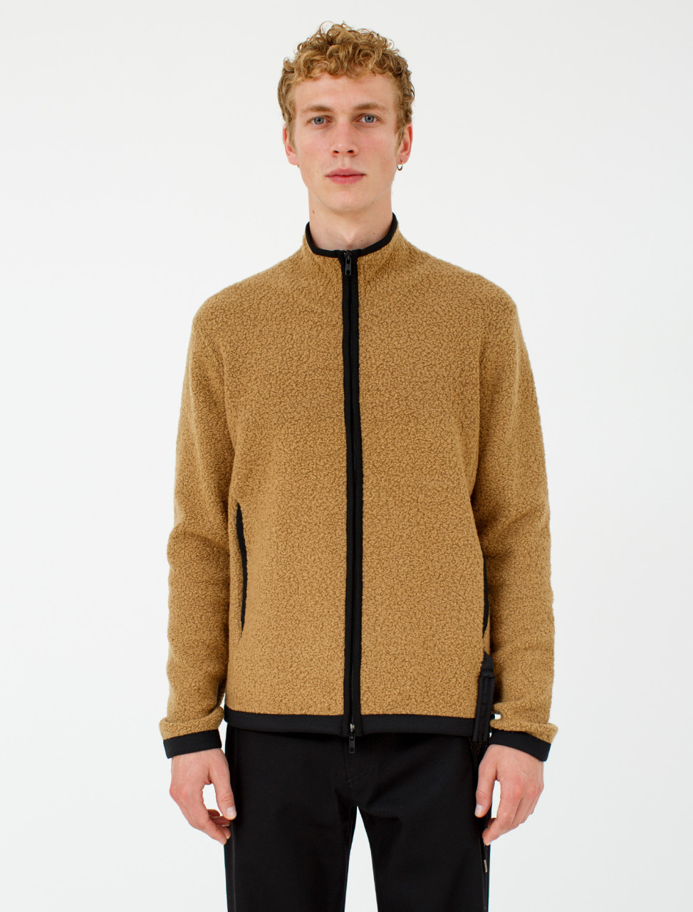 Bouclé Zip Up Knit