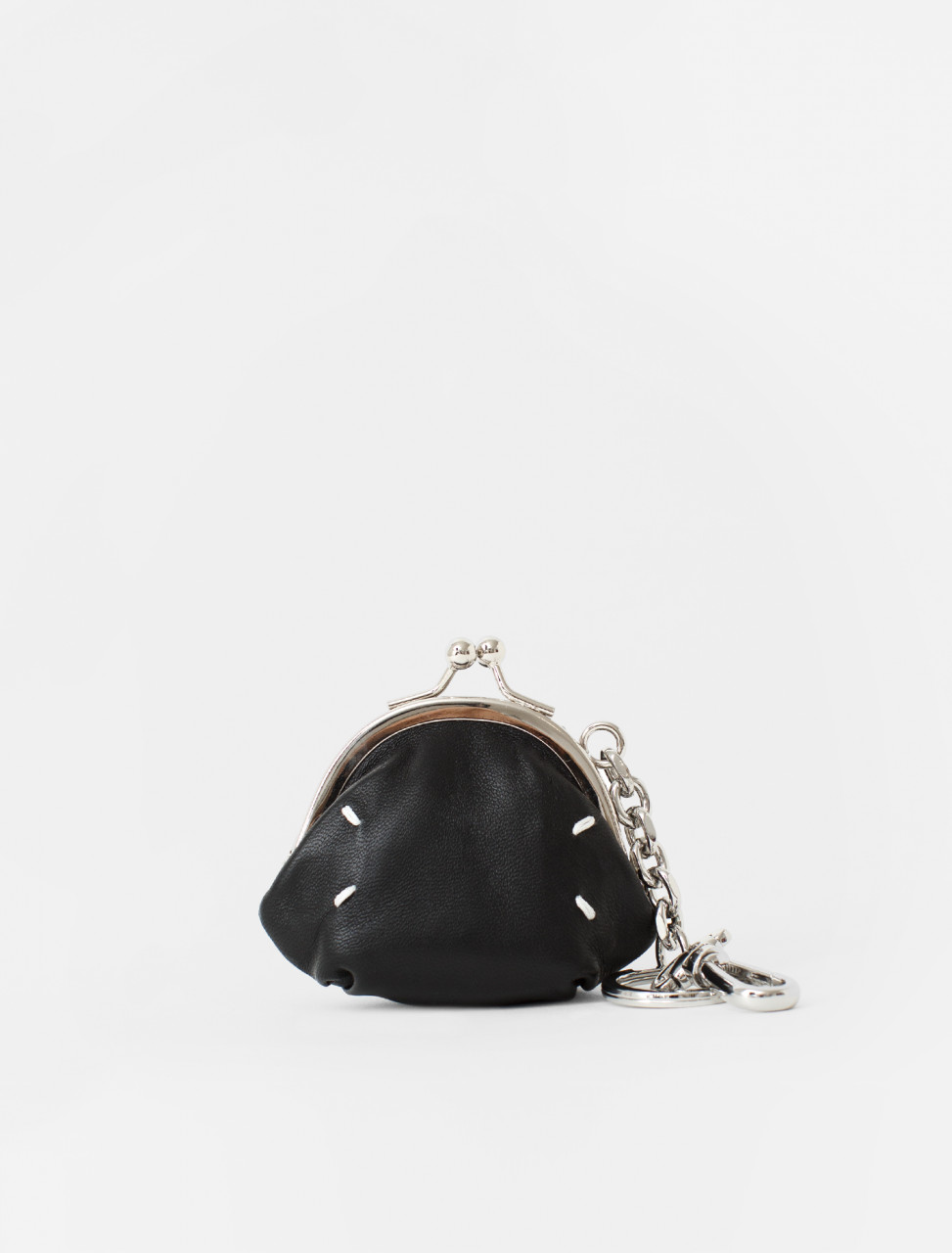 Snap Closure Coin Purse in Black