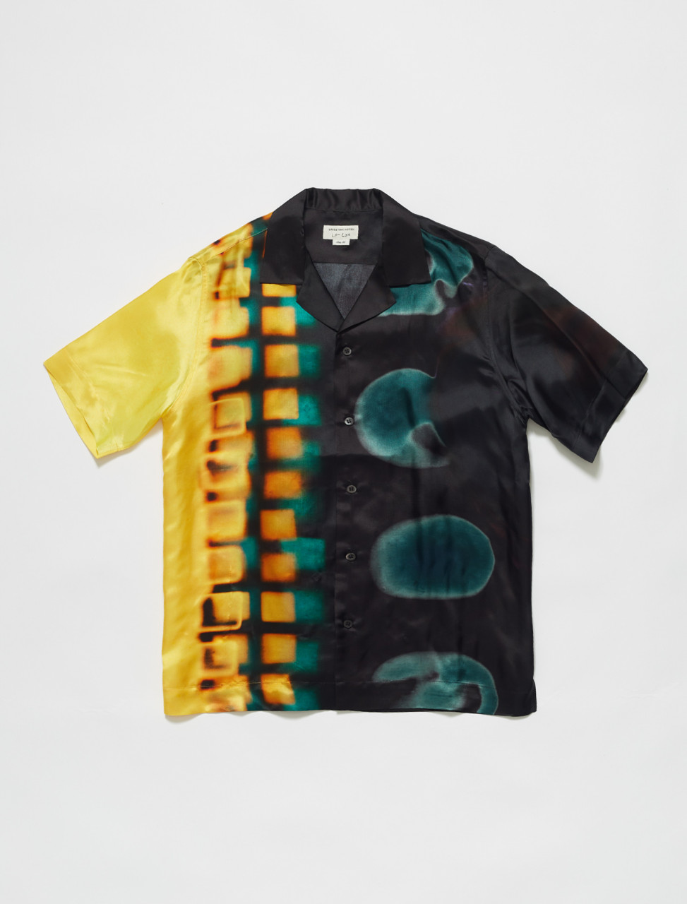 Carltone Len Lye Print Shirt in Yellow