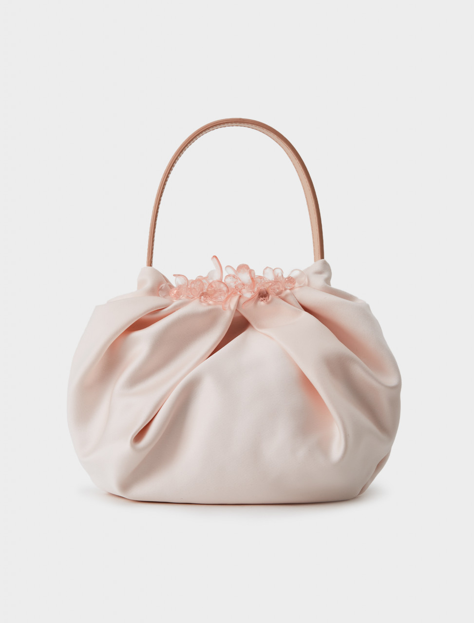 Simone Rocha Satin Mini Pleated Bag in Rose