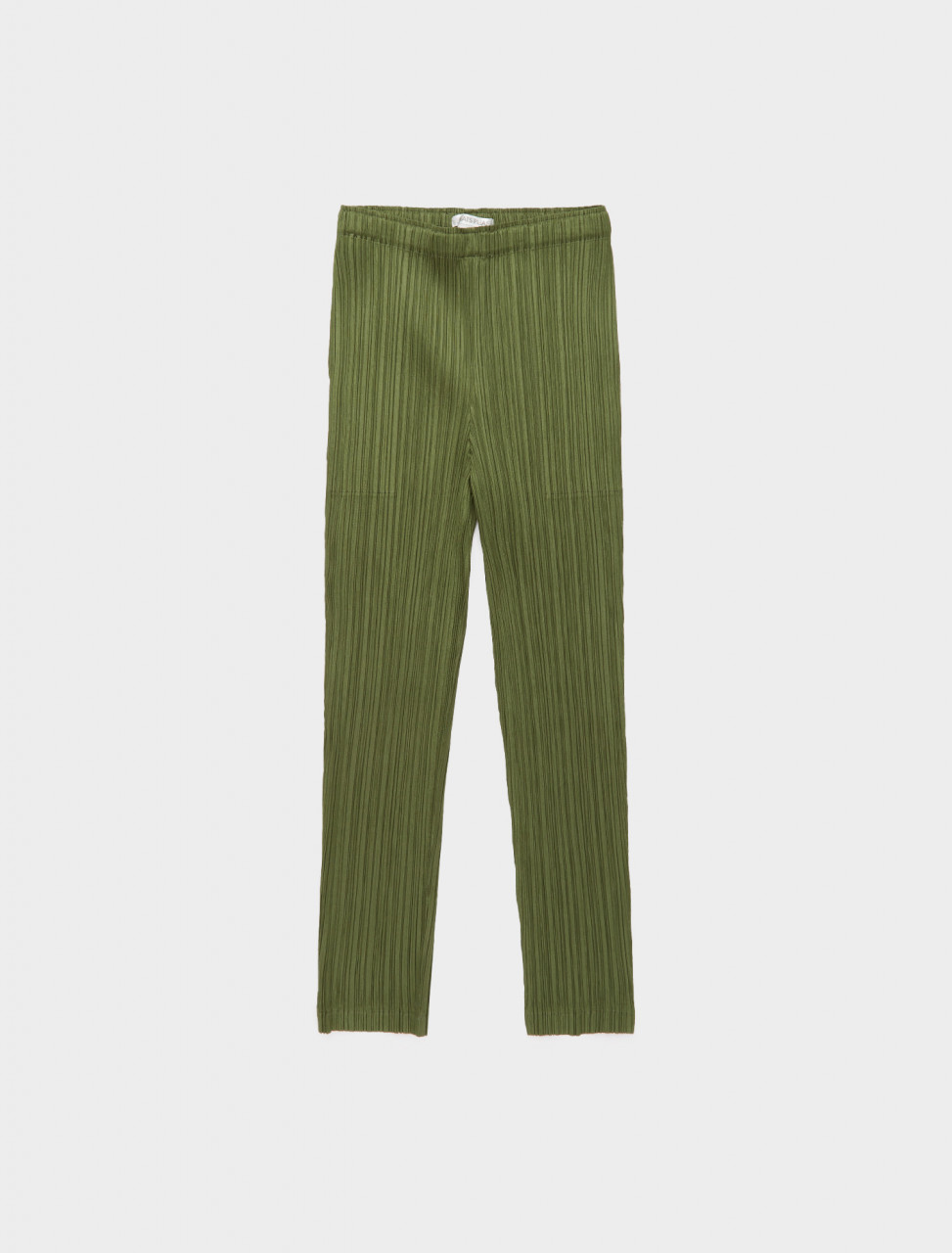 286-PP08JF411-65 ISSEY MIYAKE PLEATS PLEASE CROPPED TROUSERS KHAKI