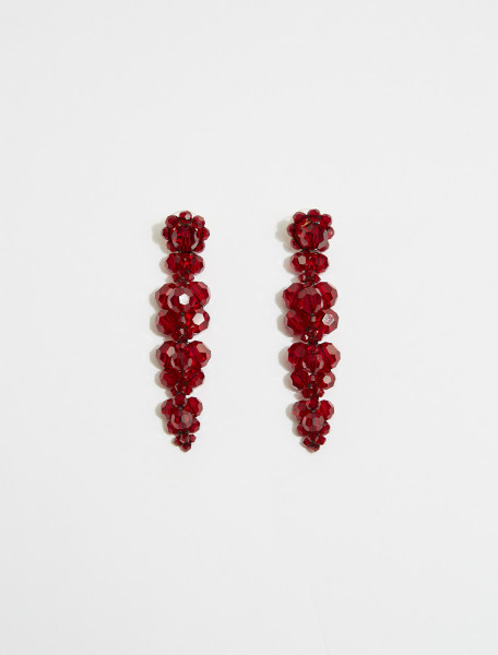 ERG260-0903-BL SIMONE ROCHA CLUSTER DRIP EARRING BLOOD RED